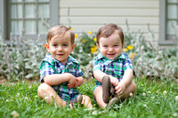 Liam + Carter's 1st  Year Portraits